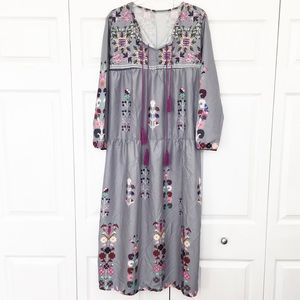 MISSLOOK | Long Sleeve Boho Maxi Dress